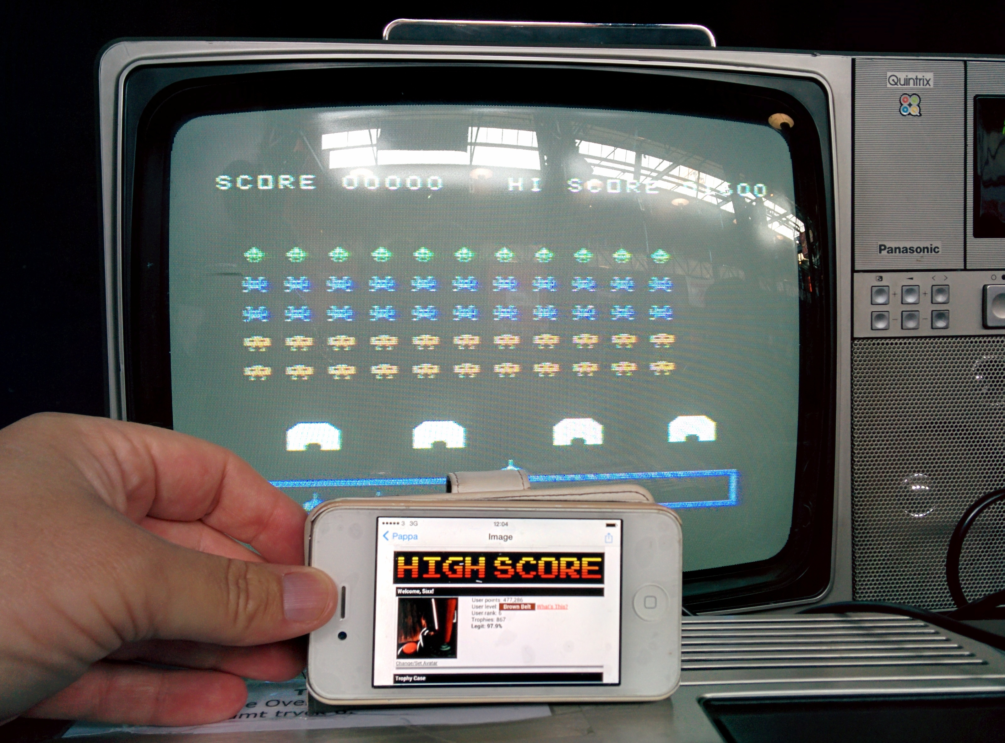 Sixx: TI Invaders (TI 99/4A) 1,600 points on 2014-05-03 17:17:30