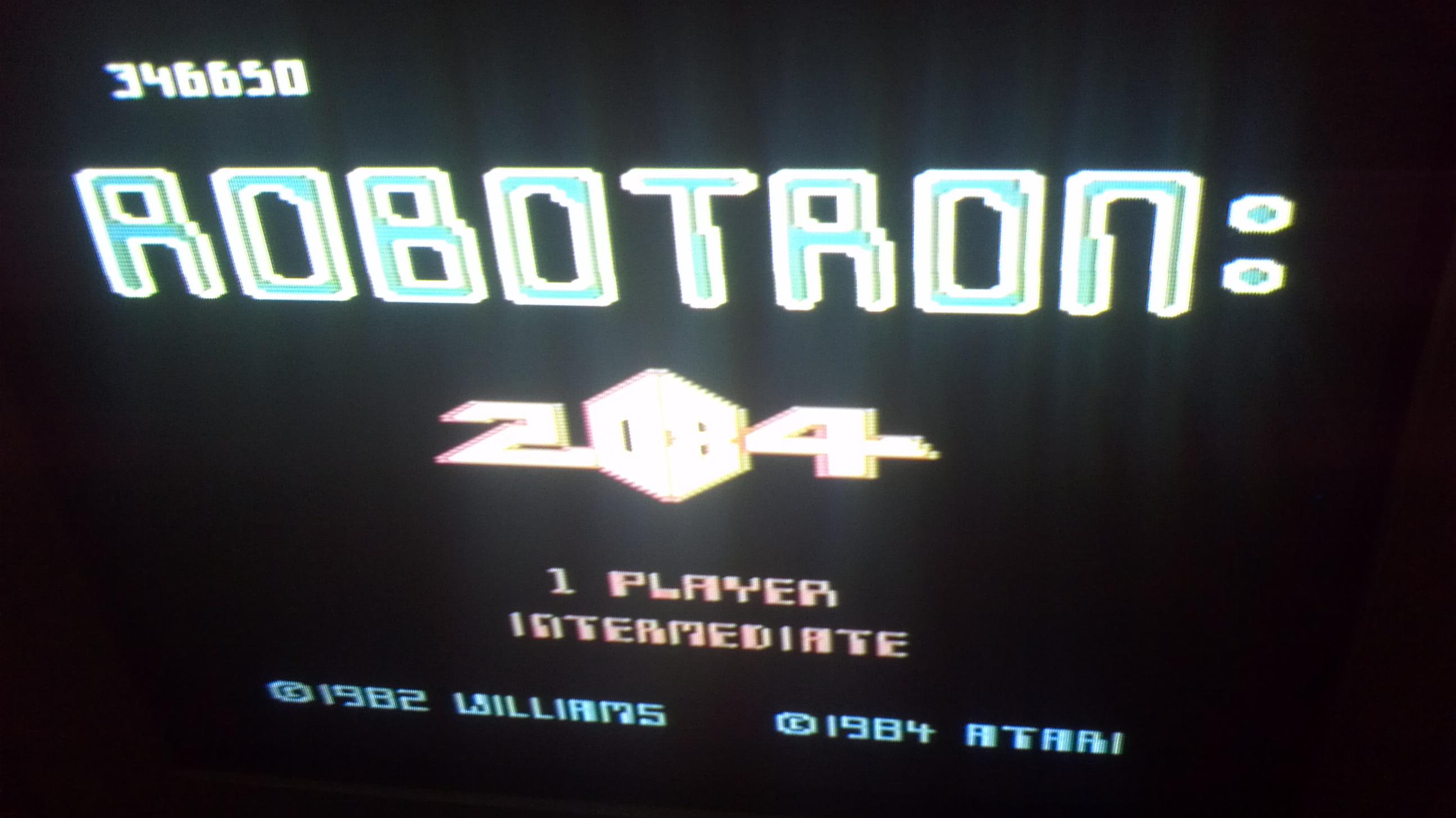 Liduario: Robotron 2084: Intermediate (Atari 7800) 346,650 points on 2014-05-04 06:55:33