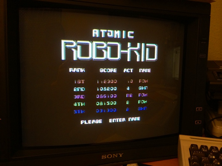 SHiNjide: Atomic Robo Kid (Commodore 64) 108,200 points on 2014-05-04 15:57:51