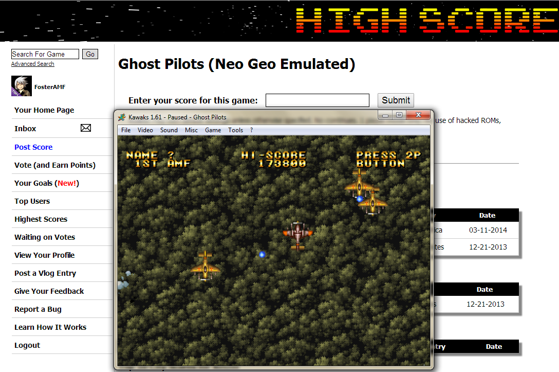 FosterAMF: Ghost Pilots (Neo Geo Emulated) 173,800 points on 2014-05-04 20:26:10