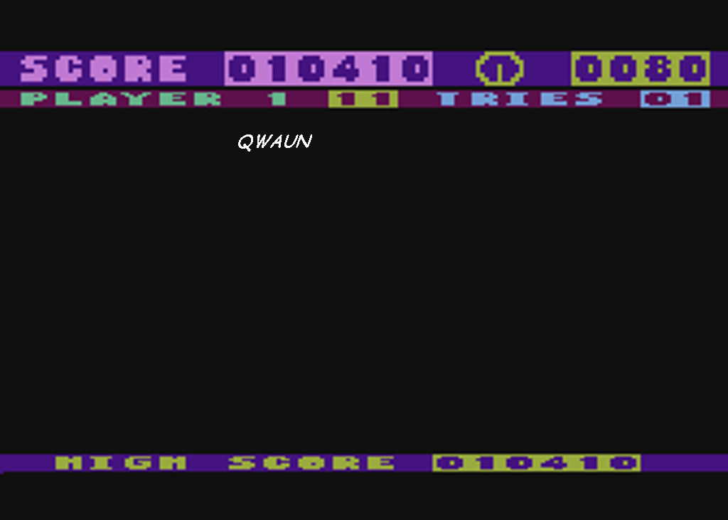 Qwaun: Flip and Flop (Atari 400/800/XL/XE Emulated) 10,410 points on 2014-05-05 18:45:05