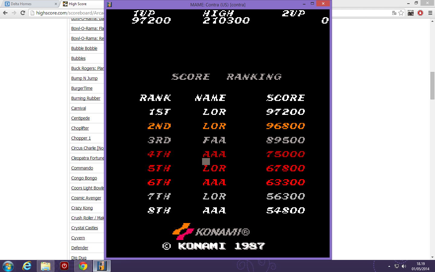 Contra [contra] 97,200 points