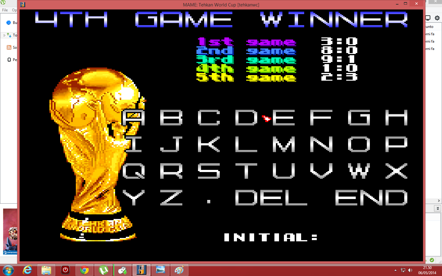 lenny2571: Tehkan World Cup: Fourth Match [Point Difference] [tehkanwc] (Arcade Emulated / M.A.M.E.) 1 points on 2014-05-06 14:51:09