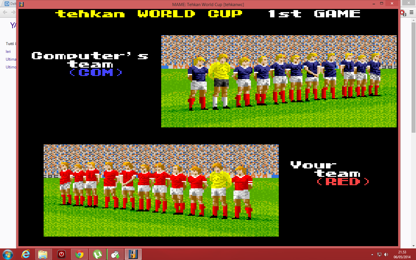 Tehkan World Cup: First Match [Point Difference] [tehkanwc] 11 points