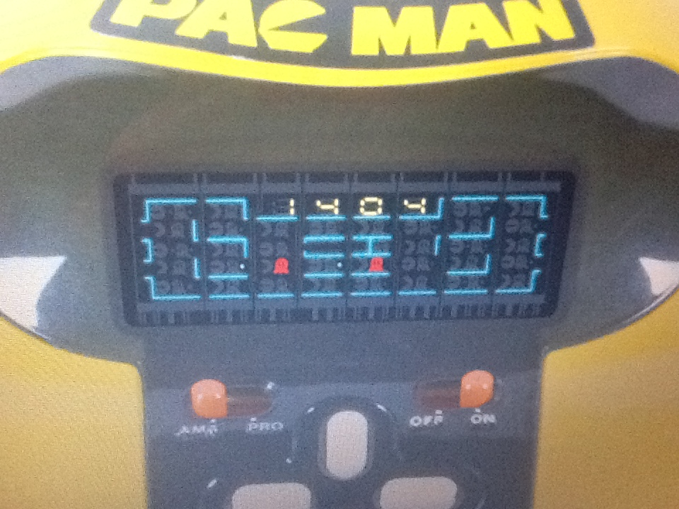 TomyTronic Pac-Man 1,404 points
