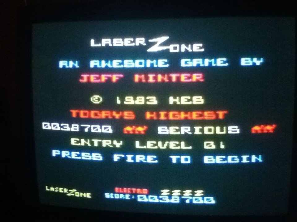 Lazer Zone 38,700 points