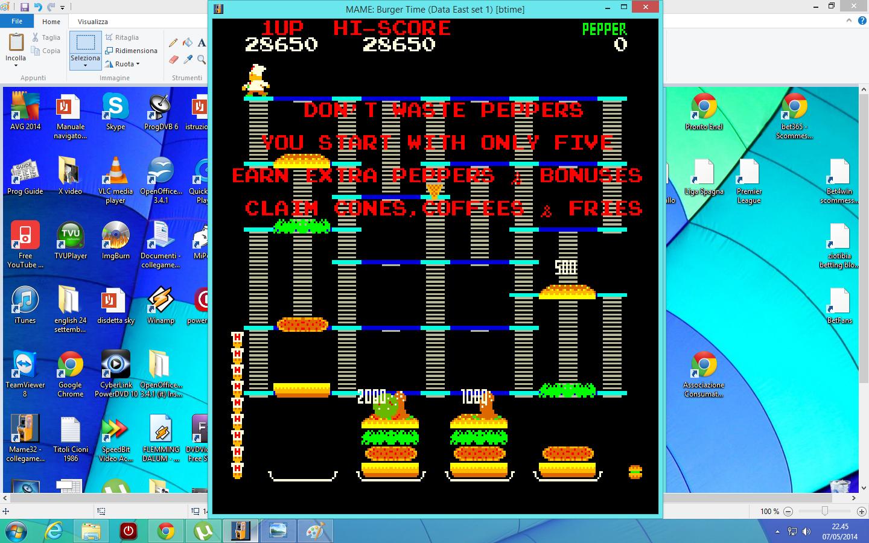 lenny2571: BurgerTime (Arcade Emulated / M.A.M.E.) 28,650 points on 2014-05-07 15:46:17