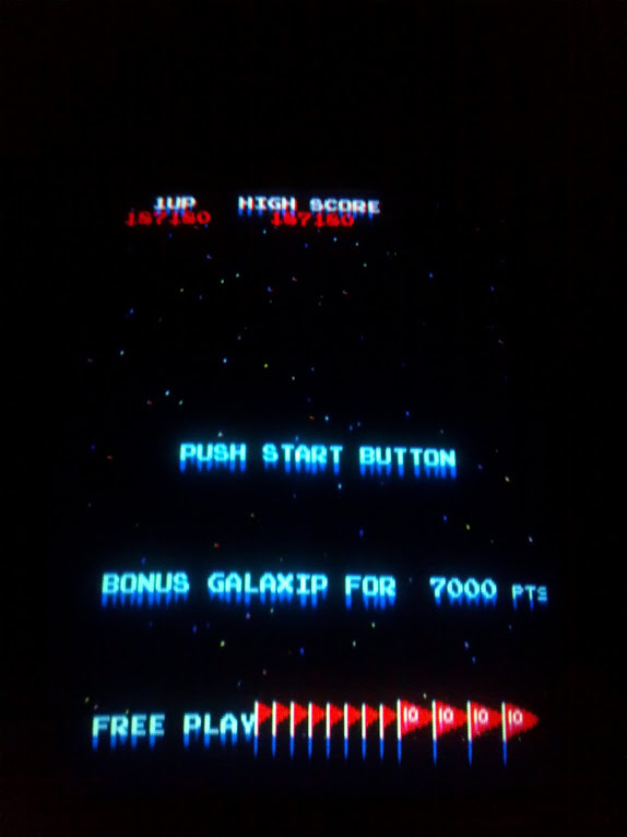 Galaxian 187,180 points
