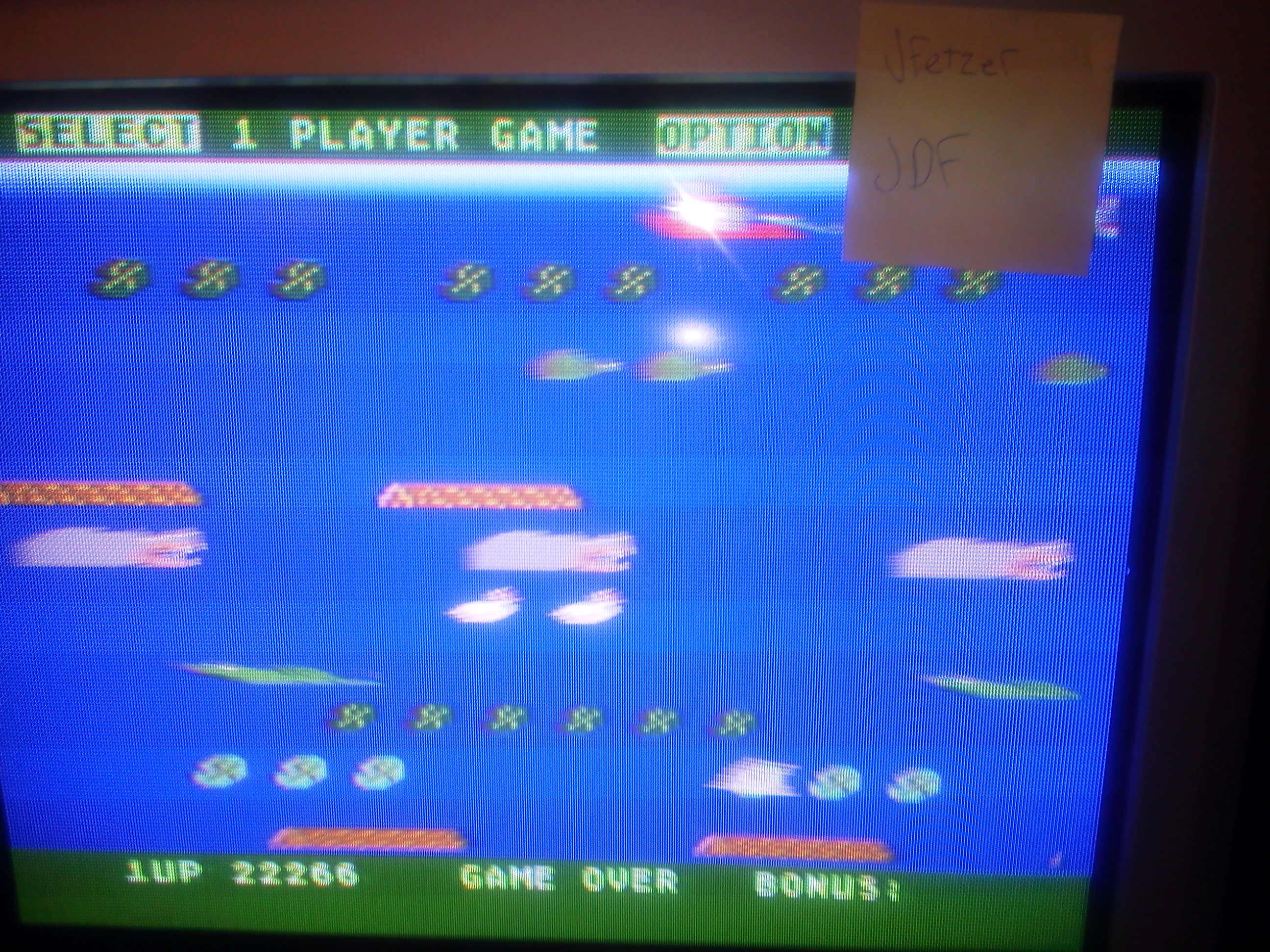 jfetzer: Frogger II: Threedeep (Atari 400/800/XL/XE) 22,266 points on 2014-05-07 20:30:35