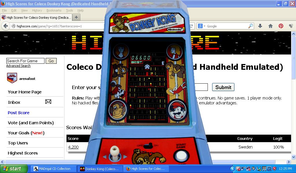 Coleco Donkey Kong 6,600 points