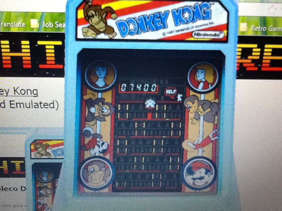 Gray: Coleco Donkey Kong (Dedicated Handheld Emulated) 7,400 points on 2014-05-08 00:17:02