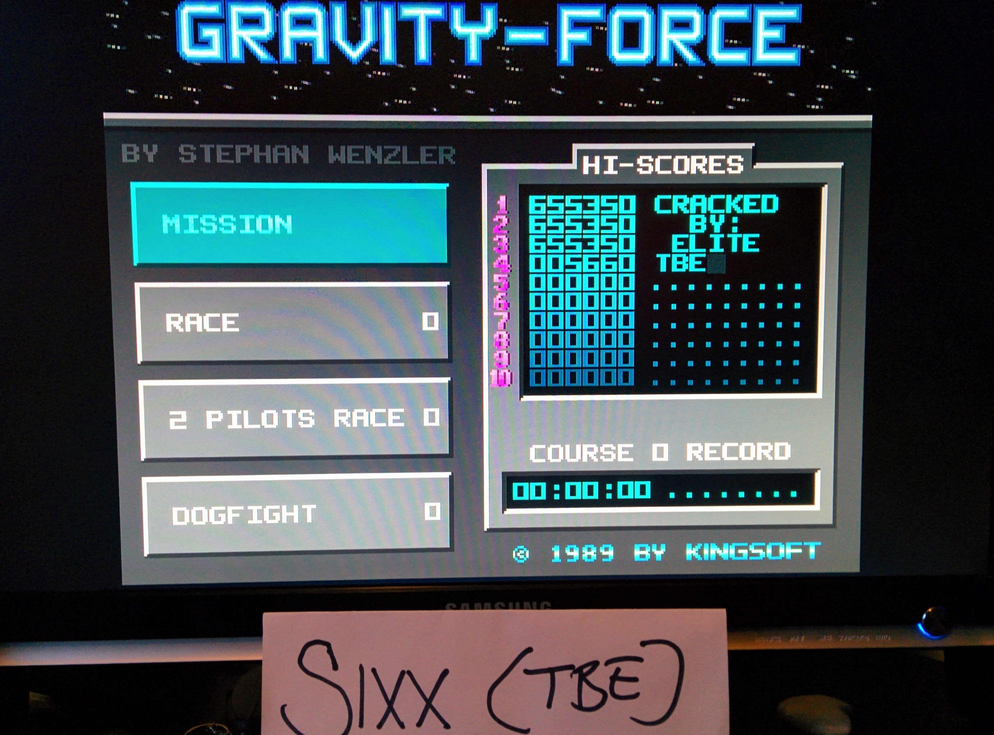Sixx: Gravity Force [Mission] (Amiga Emulated) 5,660 points on 2014-05-08 14:28:01