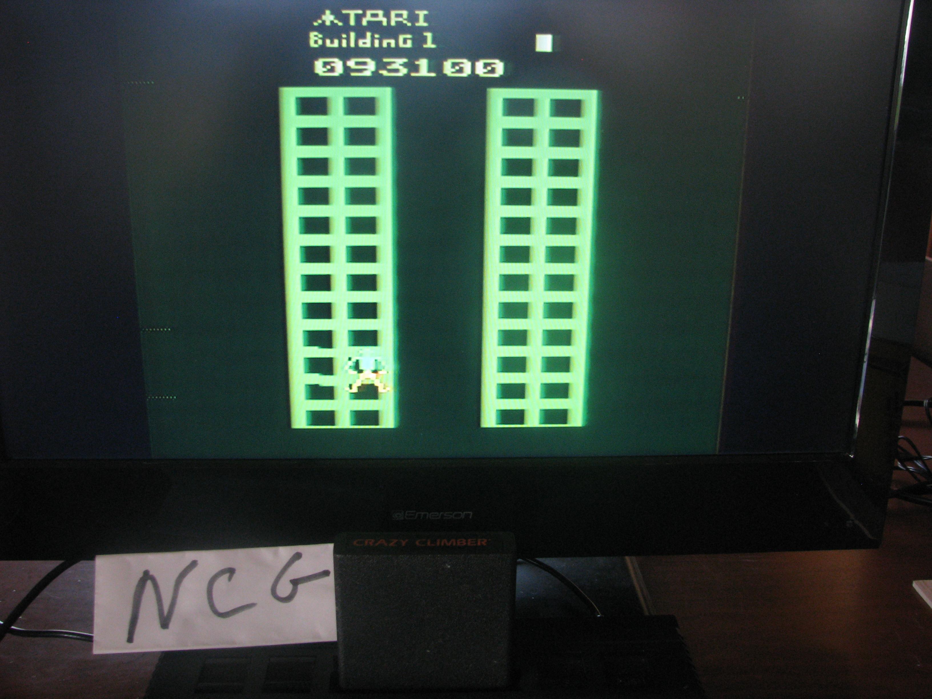 NorthCoastGamer: Crazy Climber (Atari 2600 Expert/A) 93,100 points on 2014-05-08 23:57:05