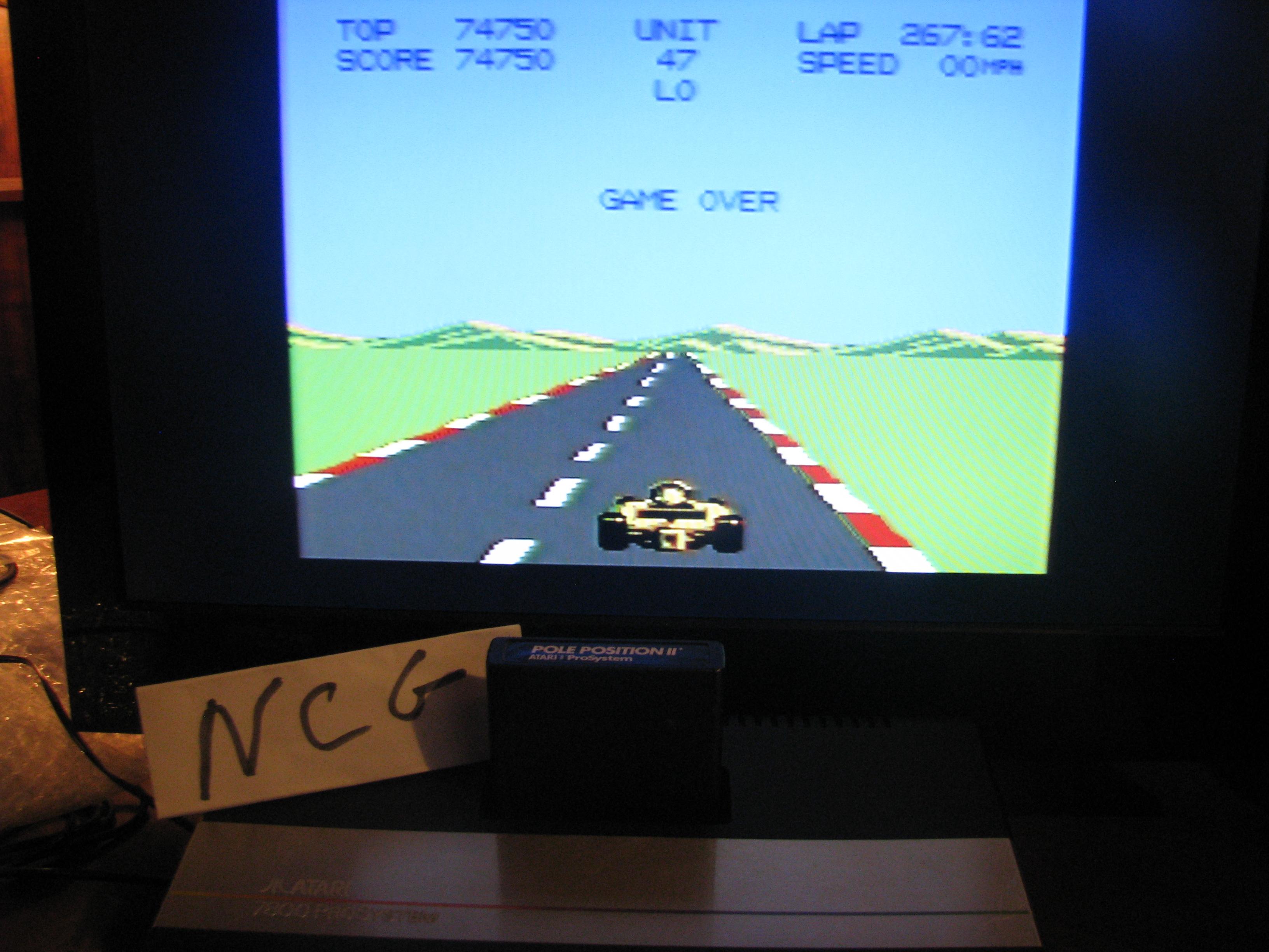NorthCoastGamer: Pole Position 2: Test Track (Atari 7800) 74,750 points on 2014-05-09 00:39:12