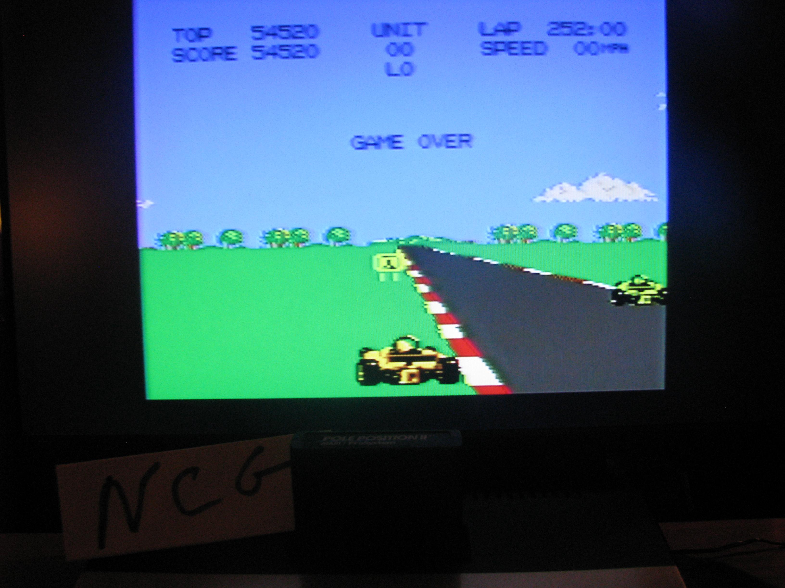 NorthCoastGamer: Pole Position 2: Suzuka (Atari 7800) 54,520 points on 2014-05-09 00:51:00