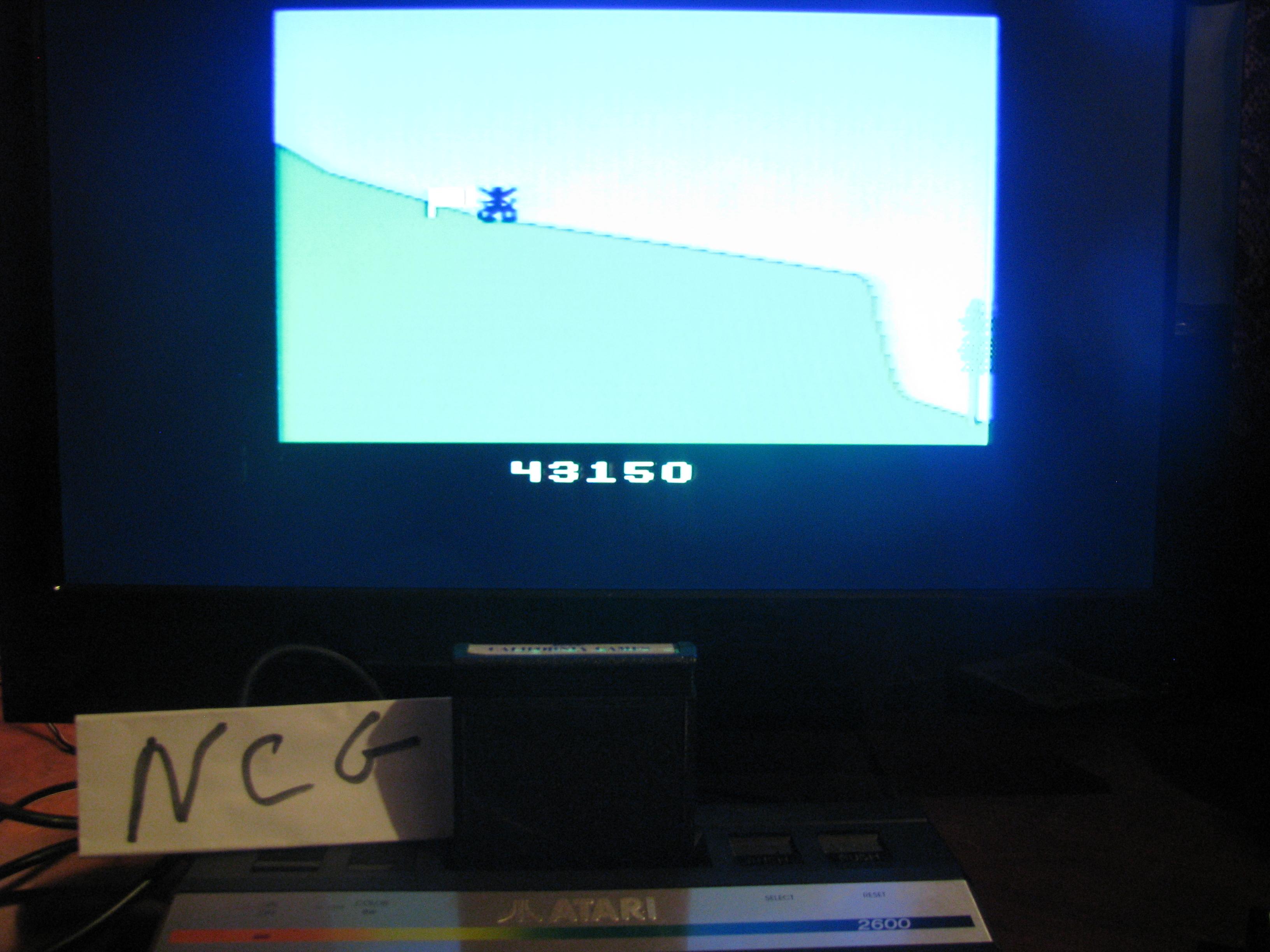 NorthCoastGamer: California Games: BMX Bike Racing (Atari 2600) 43,150 points on 2014-05-09 01:08:01