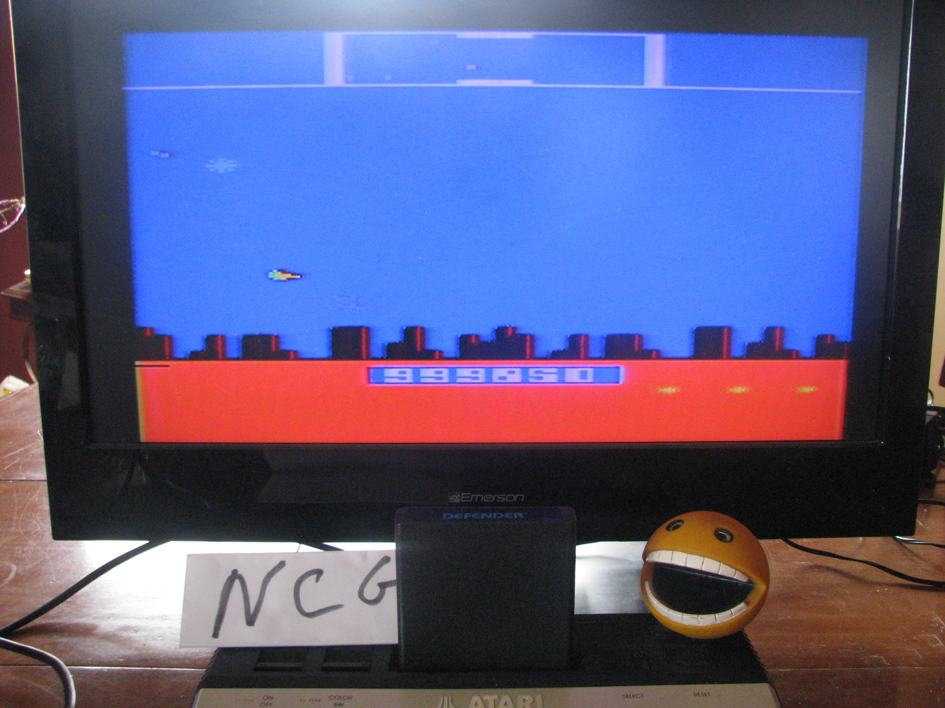 NorthCoastGamer: Defender (Atari 2600 Novice/B) 999,850 points on 2014-05-09 01:22:23