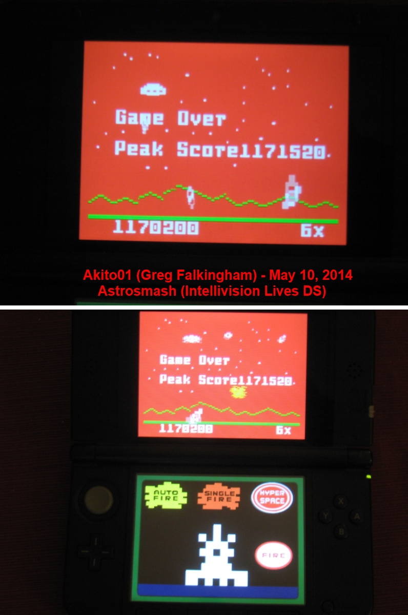 Akito01: Intellivision Lives: Astrosmash (Nintendo DS) 1,171,520 points on 2014-05-11 18:39:25