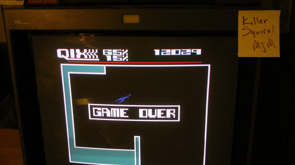killersquirel: Qix: Expert (Atari 5200) 12,029 points on 2013-09-26 18:05:38