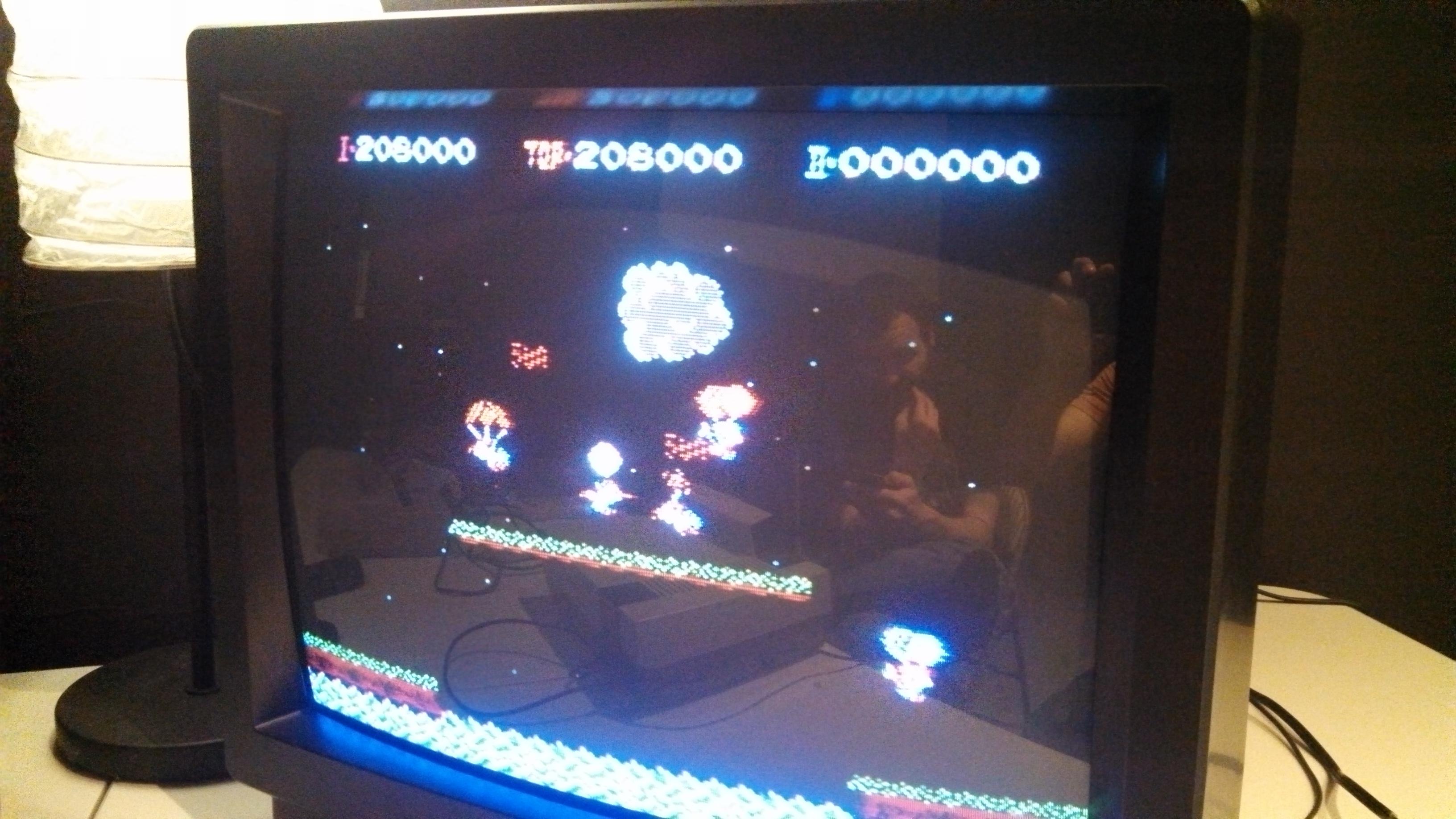 videogameporn: Balloon Fight (NES/Famicom) 208,000 points on 2014-05-11 18:51:05