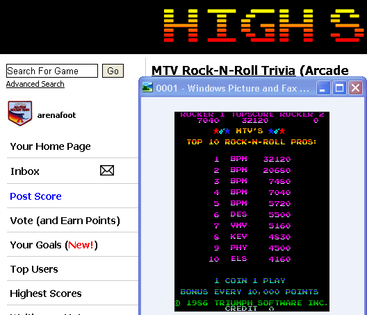 arenafoot: MTV Rock-N-Roll Trivia (Arcade Emulated / M.A.M.E.) 32,120 points on 2014-05-11 22:02:08