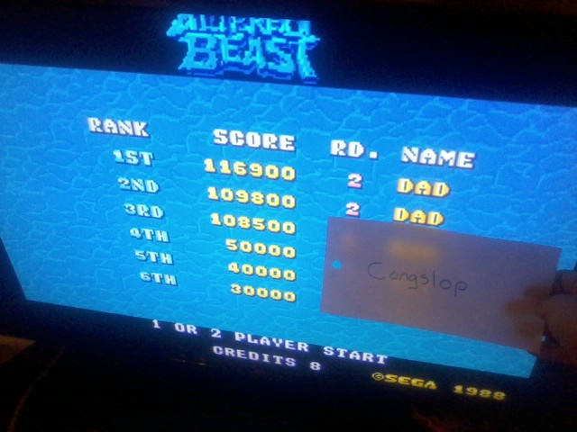 Congslop: Altered Beast [altbeast] (Arcade Emulated / M.A.M.E.) 116,900 points on 2014-05-13 01:47:49