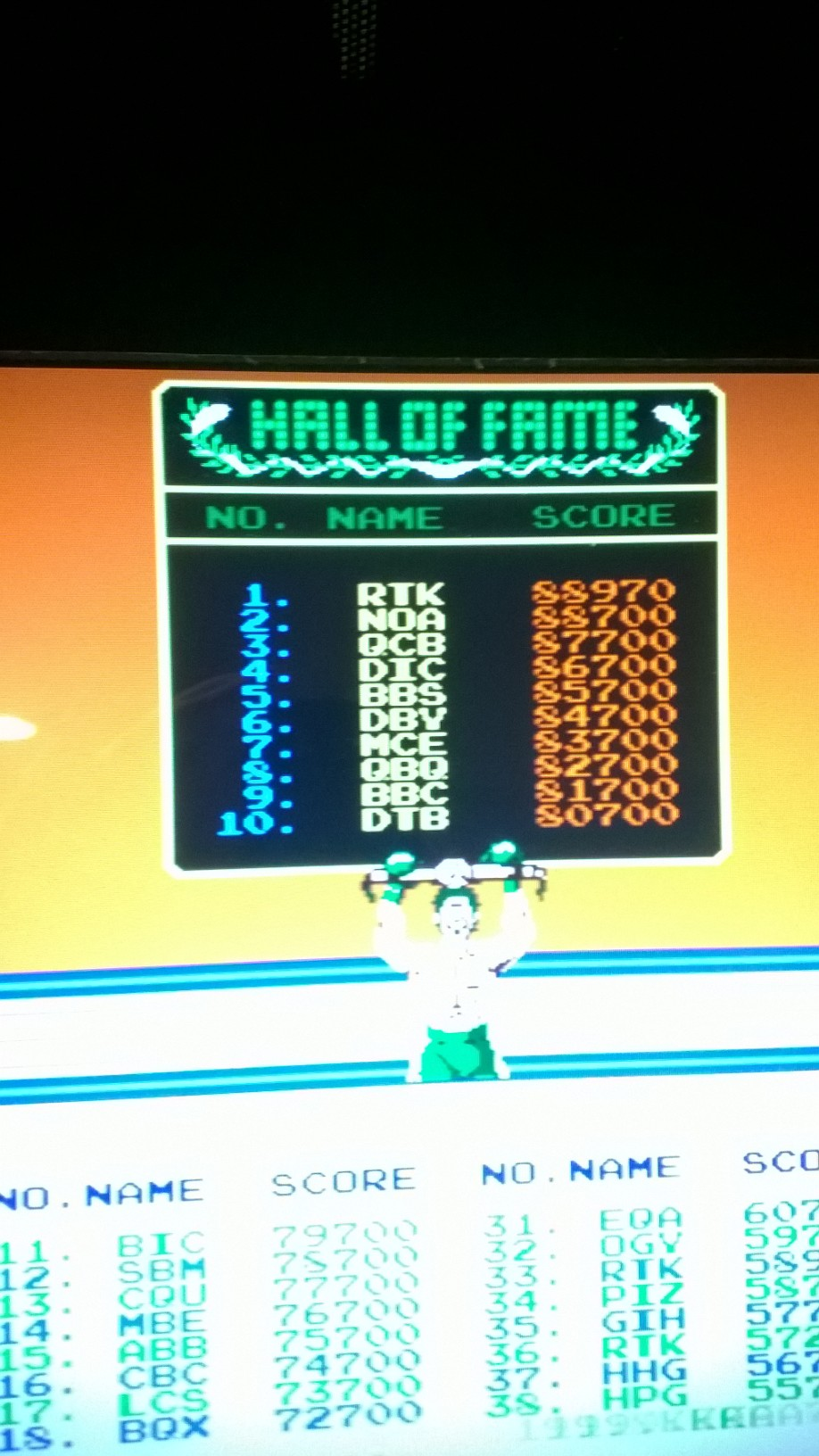 Punch Out [punchout] 88,970 points