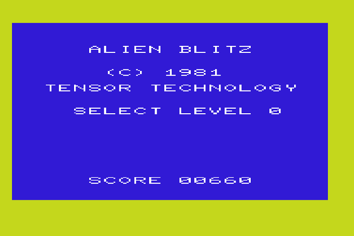 Alien Blitz 660 points