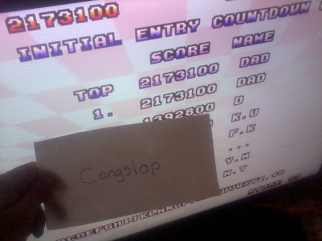 Congslop: Space Harrier II (Sega Genesis / MegaDrive Emulated) 2,173,100 points on 2014-05-14 03:37:25