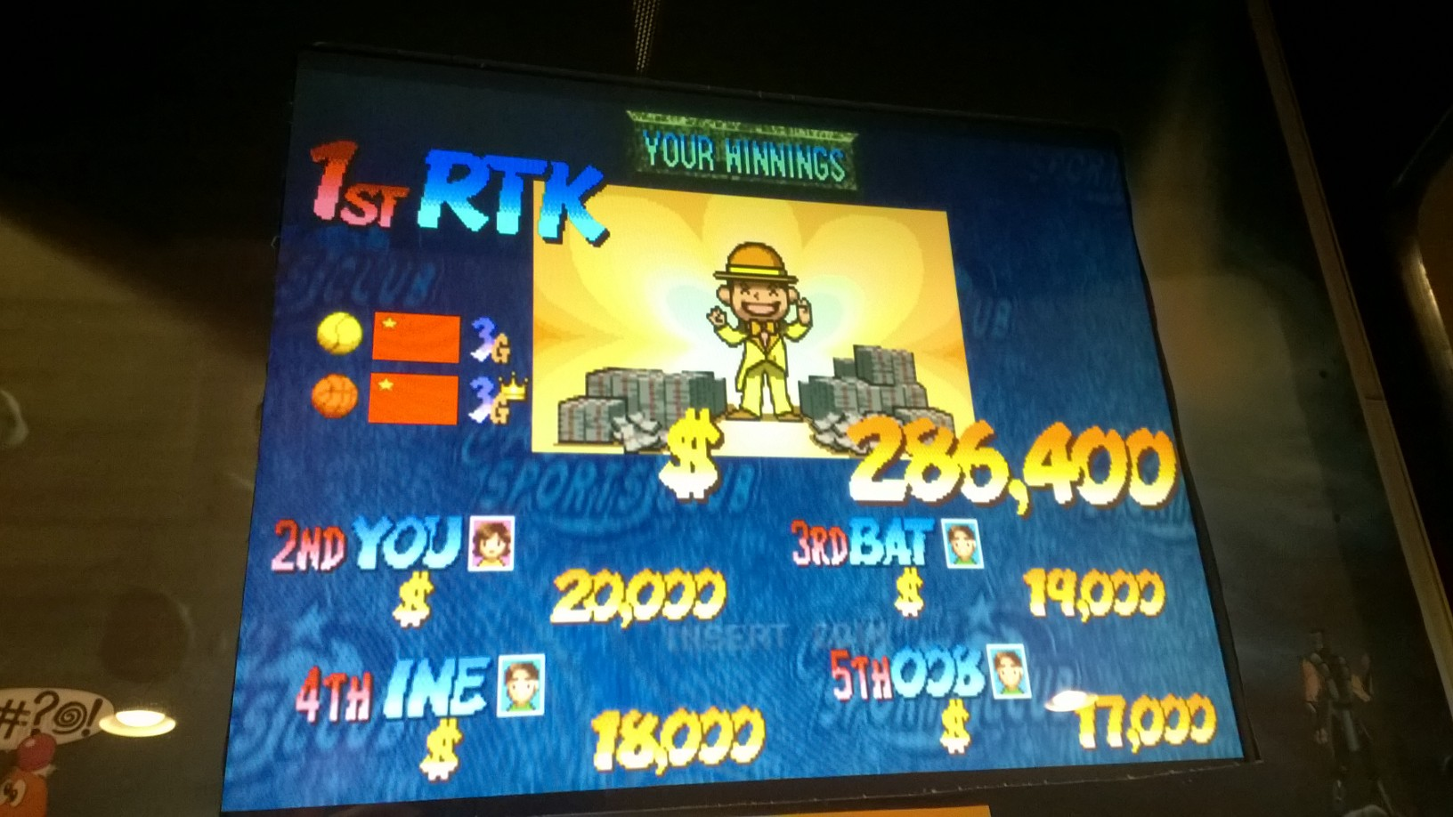 rtkiii: Capcom Sports Club: Overall Score [csclub] (Arcade Emulated / M.A.M.E.) 286,400 points on 2014-05-15 06:15:34