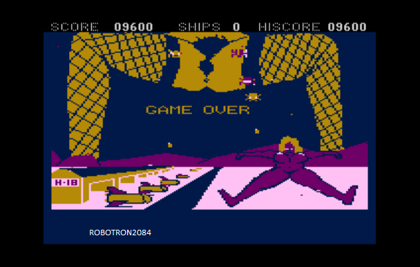 Robotron2084: Space Pussies (Atari 400/800/XL/XE Emulated) 9,600 points on 2014-05-15 11:11:59