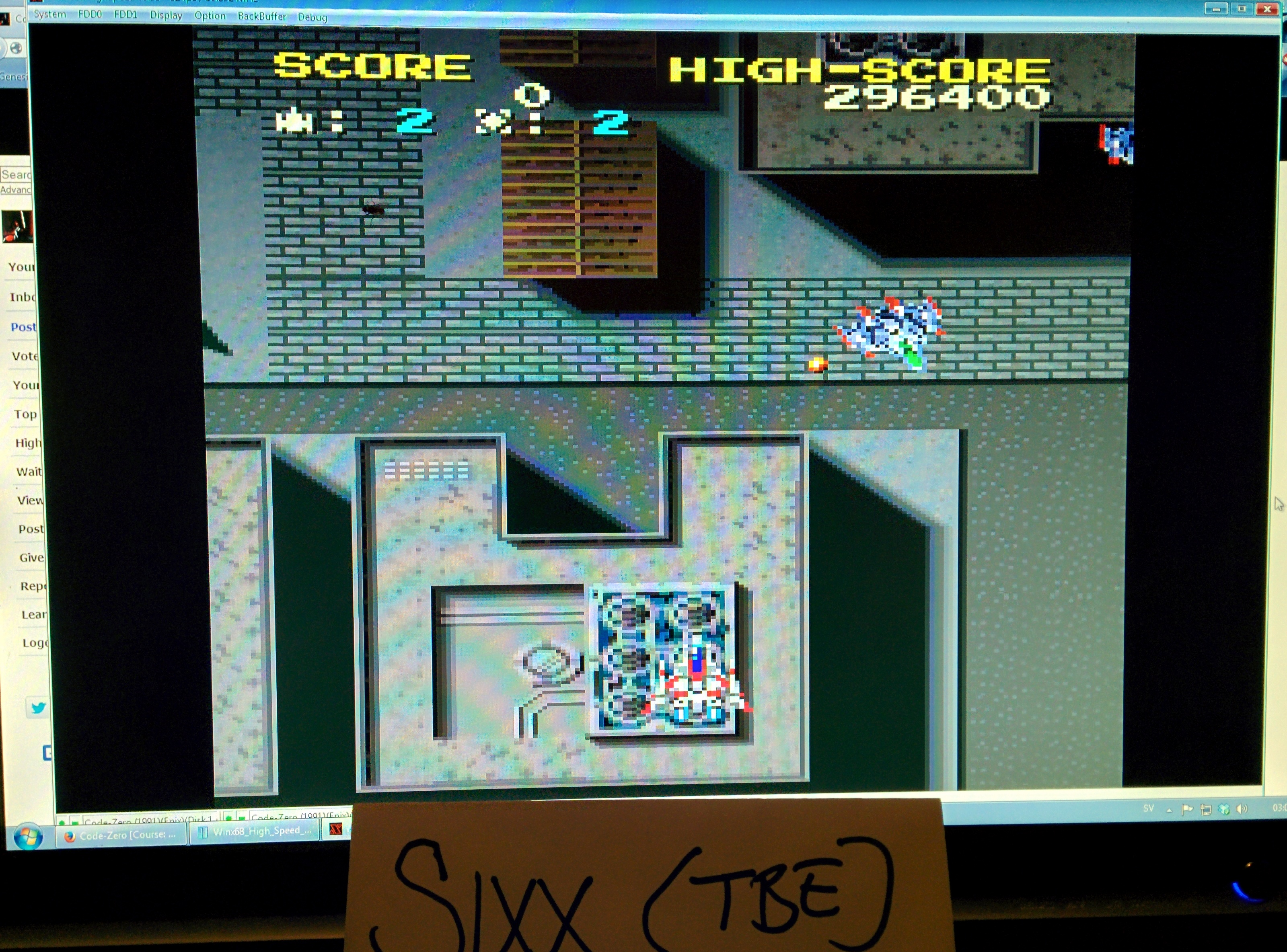 Sixx: Code-Zero [Course: Standerd] (Sharp X68000 Emulated) 296,400 points on 2014-05-15 20:10:33