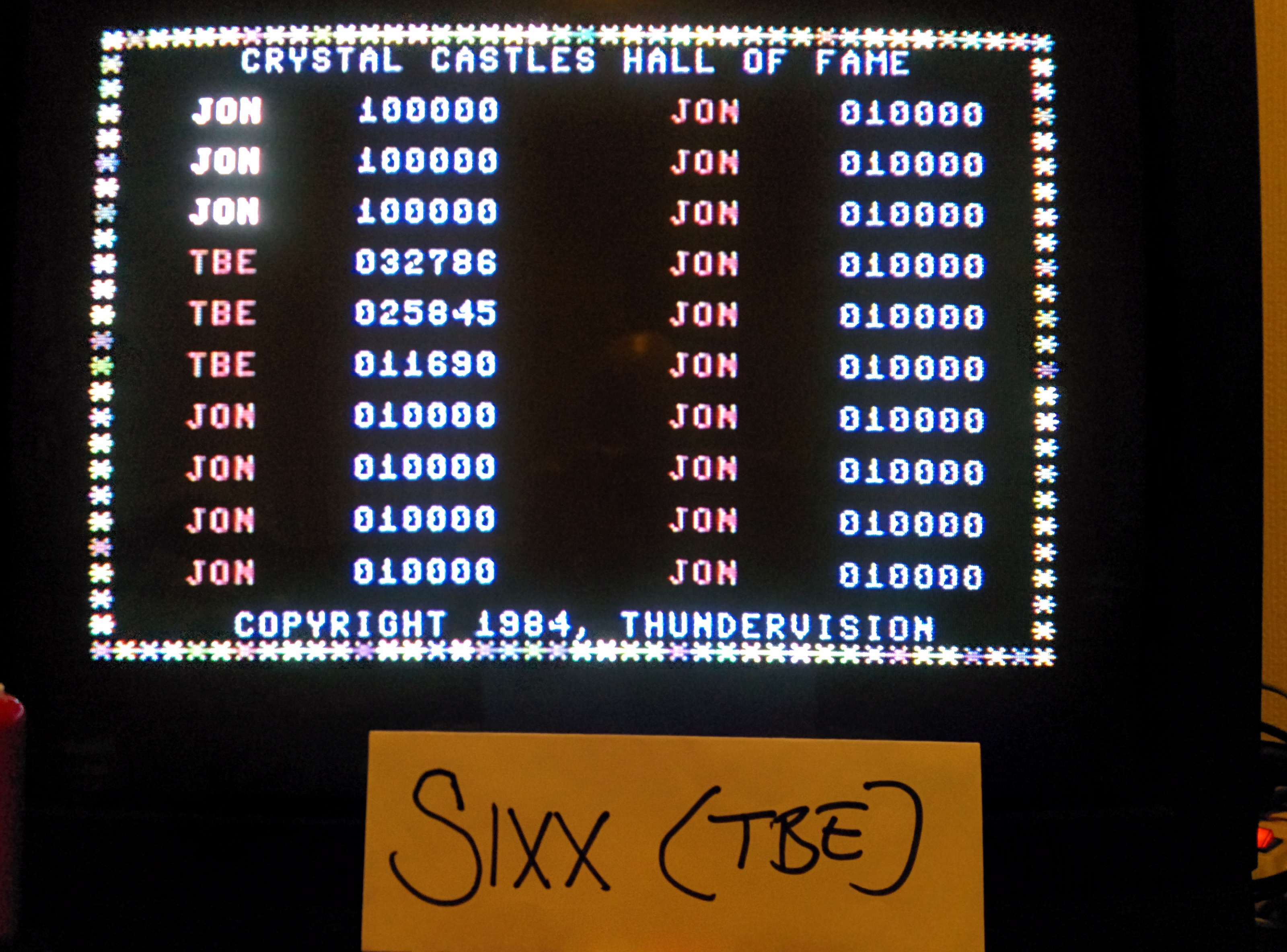 Sixx: Crystal Castles [Thundervision] (Commodore 64) 32,786 points on 2014-05-16 19:31:37