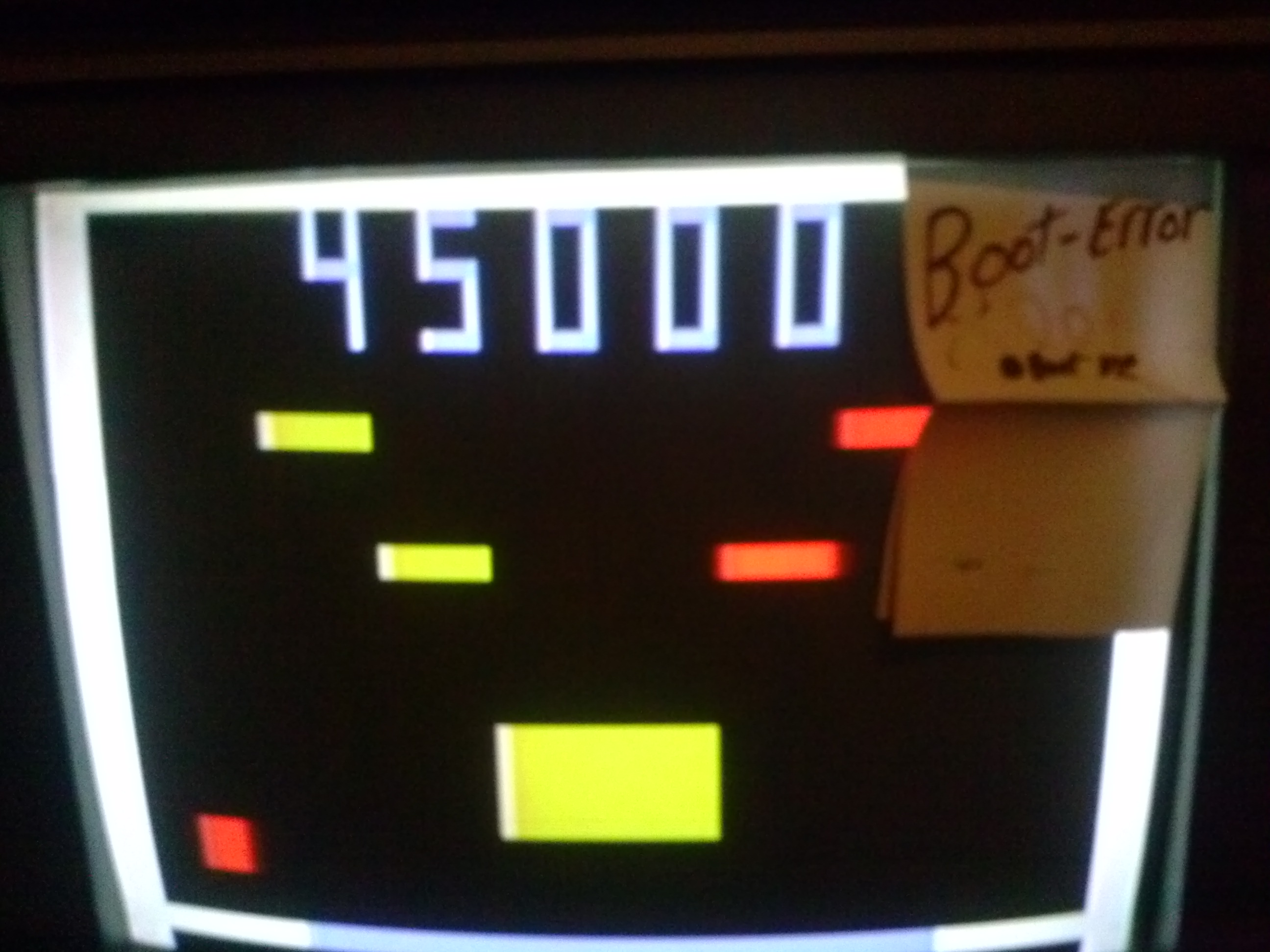 boot-error: Atari Video Pinball [Model C-380]: Flipper Pinball I (Dedicated Console) 45,000 points on 2014-05-16 20:45:39
