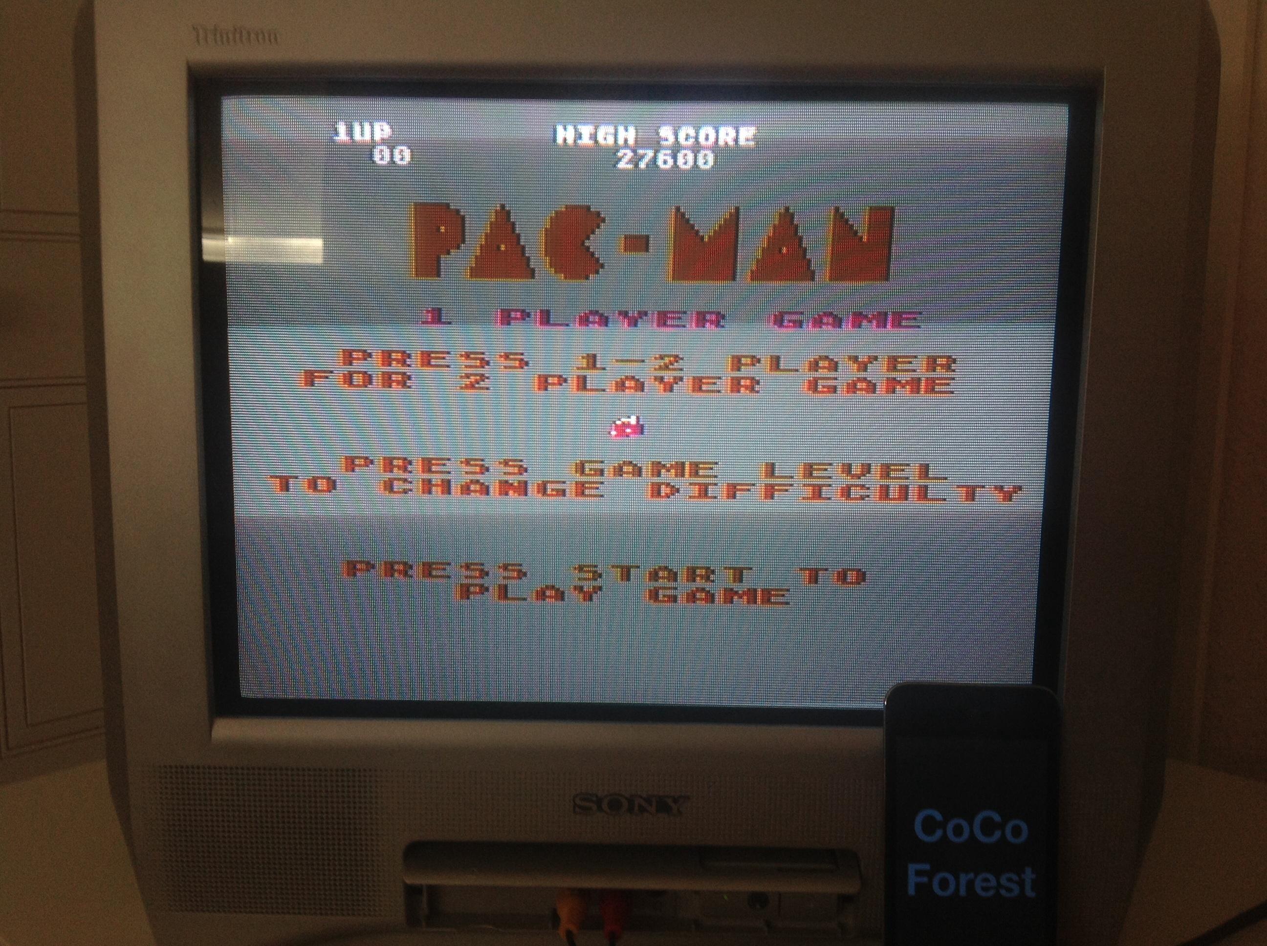 Pac-Man: Cherries Start 27,600 points