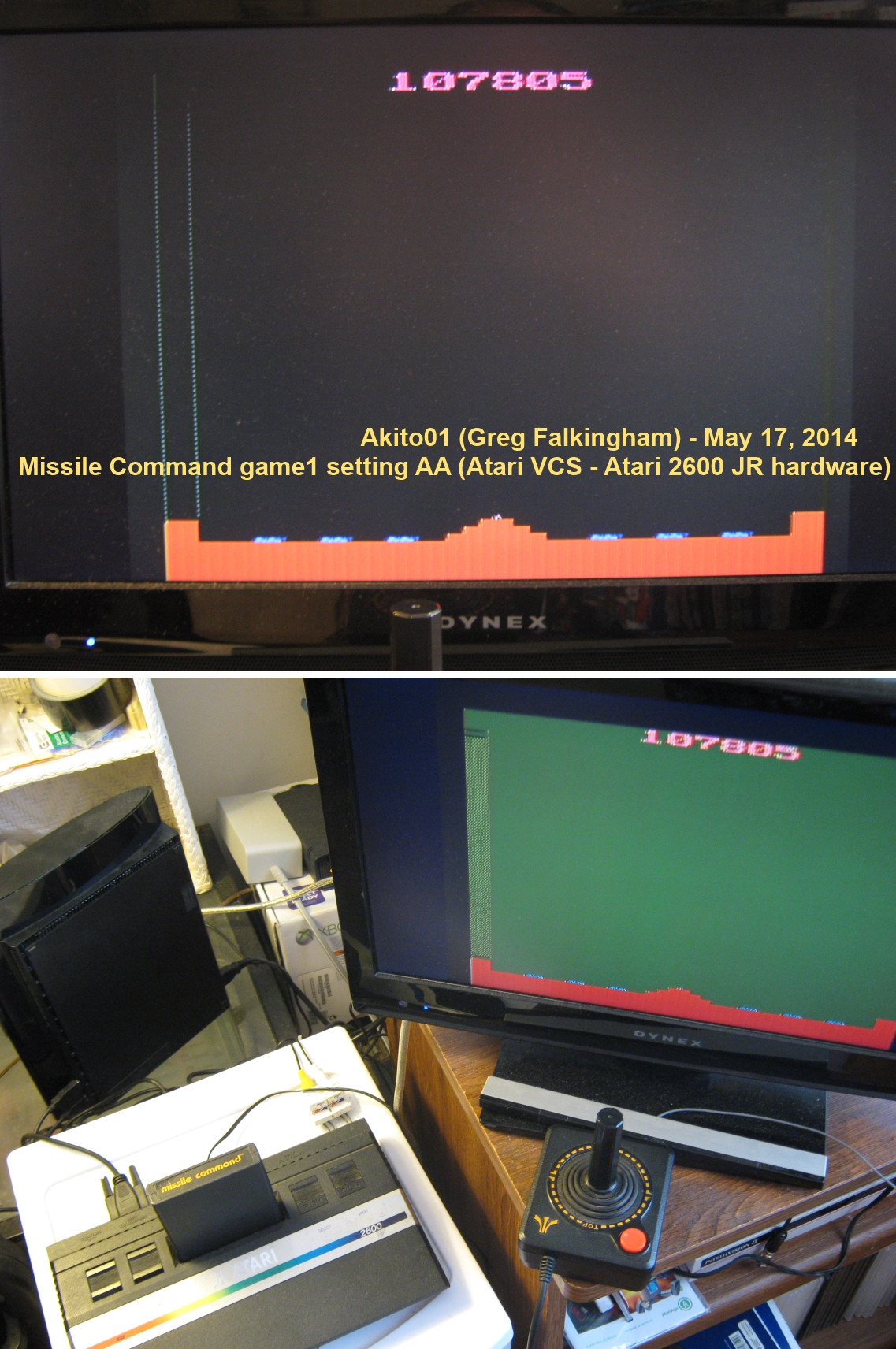 Akito01: Missile Command (Atari 2600 Expert/A) 107,805 points on 2014-05-17 12:19:21