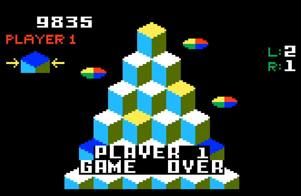 Q*Bert 9,835 points