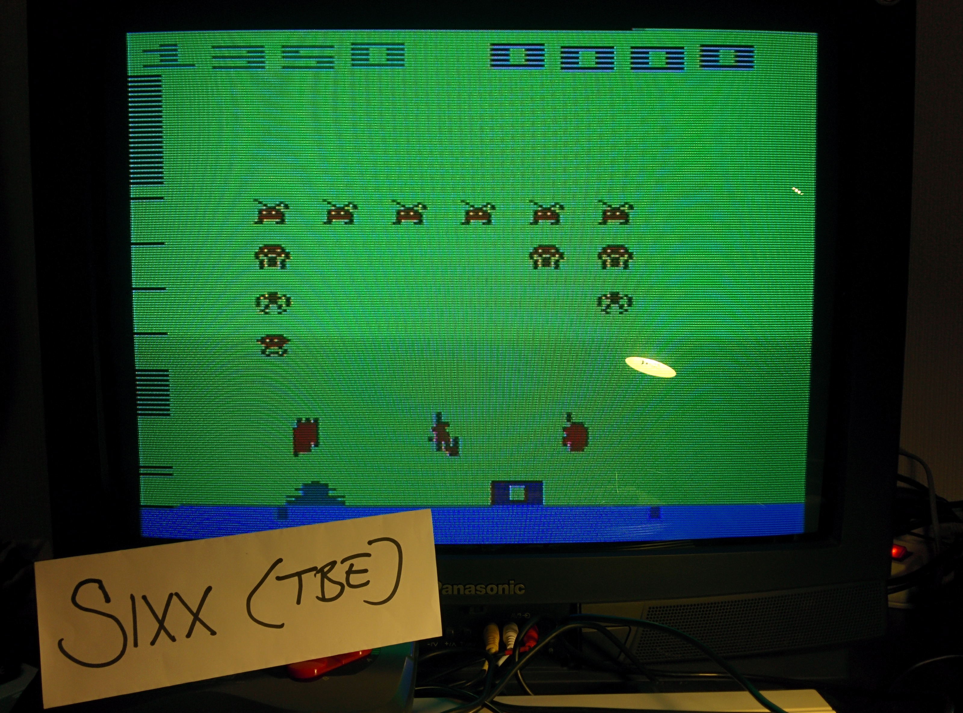 Sixx: Space Invaders: Game 6 (Atari 2600 Expert/A) 1,350 points on 2014-05-17 17:27:41