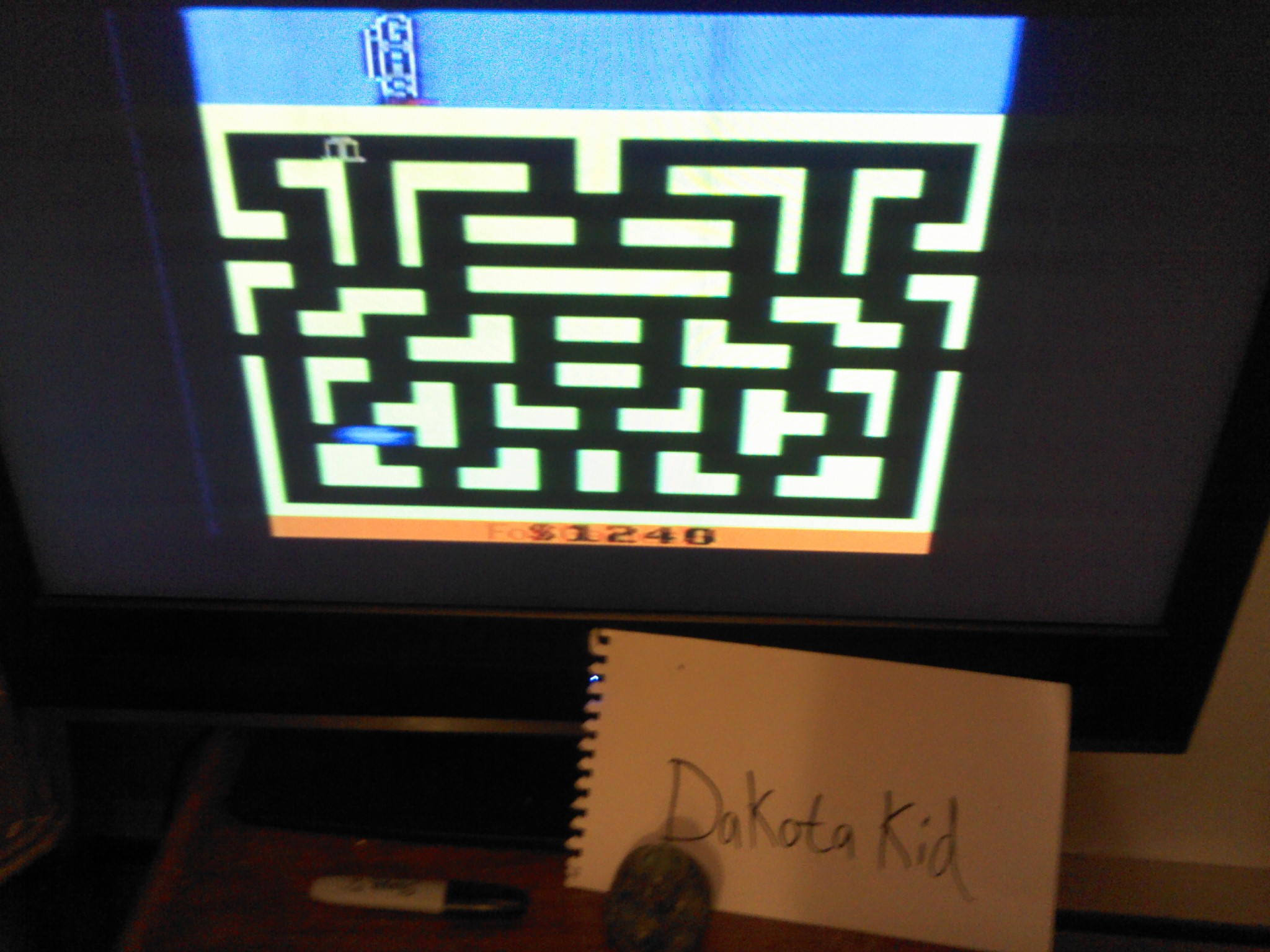 DakotaKid: Bank Heist (Atari 2600 Novice/B) 1,240 points on 2014-05-17 20:41:47