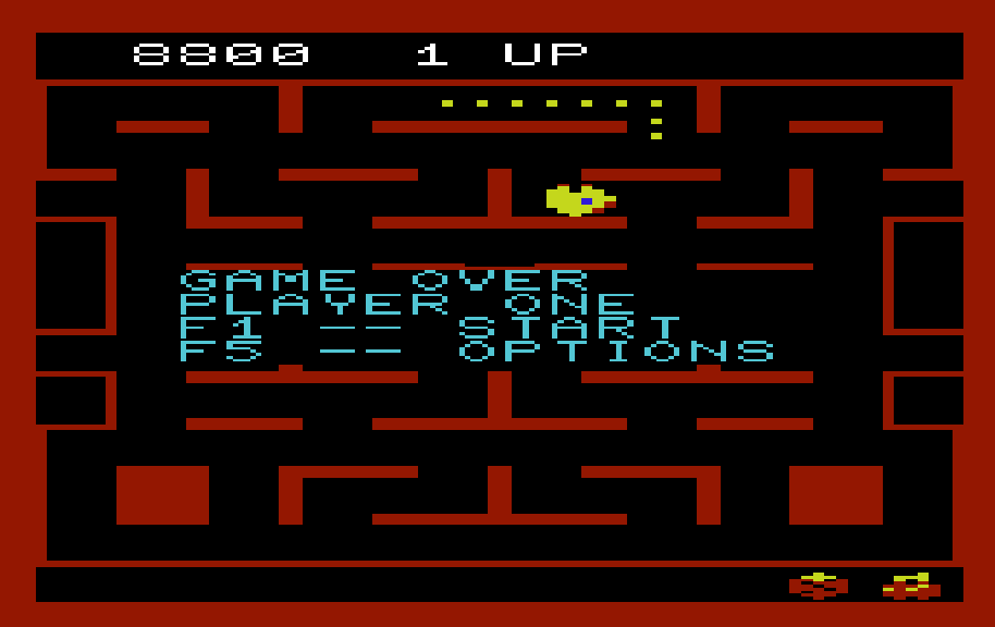 Ms. Pac-Man 8,800 points