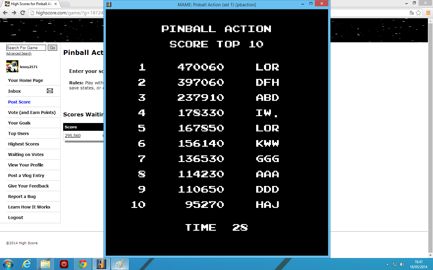 Pinball Action [pbaction] 470,060 points