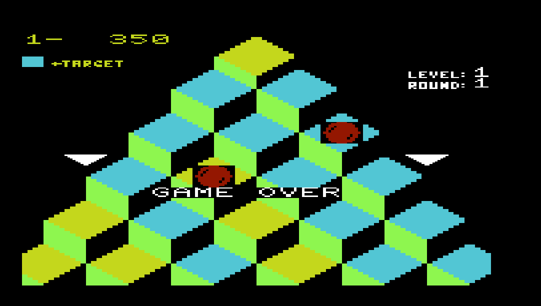 Q*Bert 350 points
