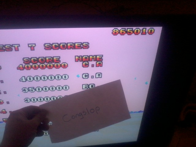 Congslop: Space Harrier 3-D (Sega Master System Emulated) 865,010 points on 2014-05-18 18:52:08