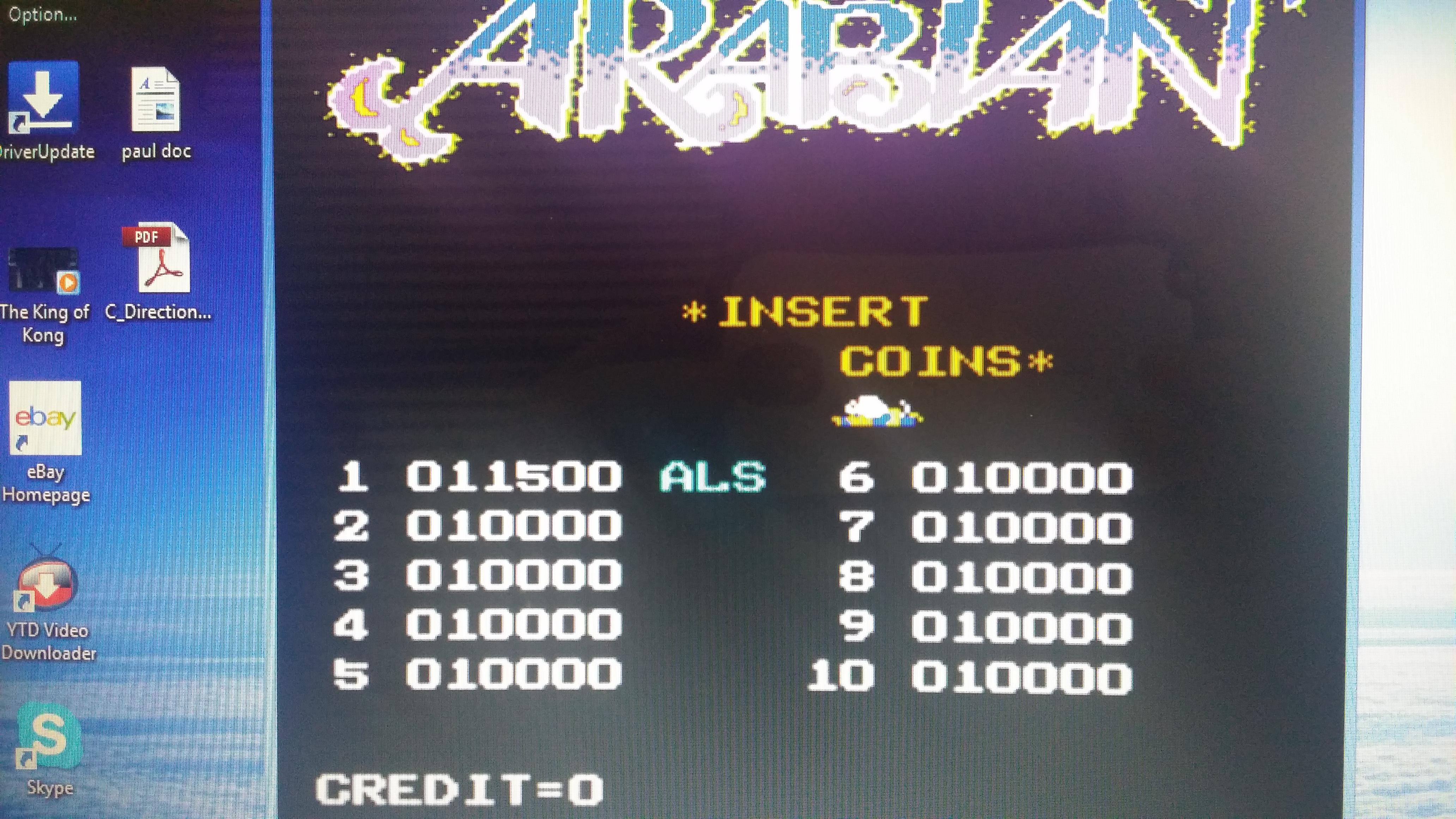 Arabian 11,500 points