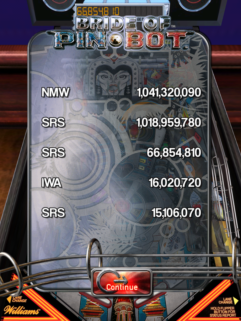 Pinball Arcade: The Machine: Bride of Pin*Bot [3 balls] 1,018,959,780 points