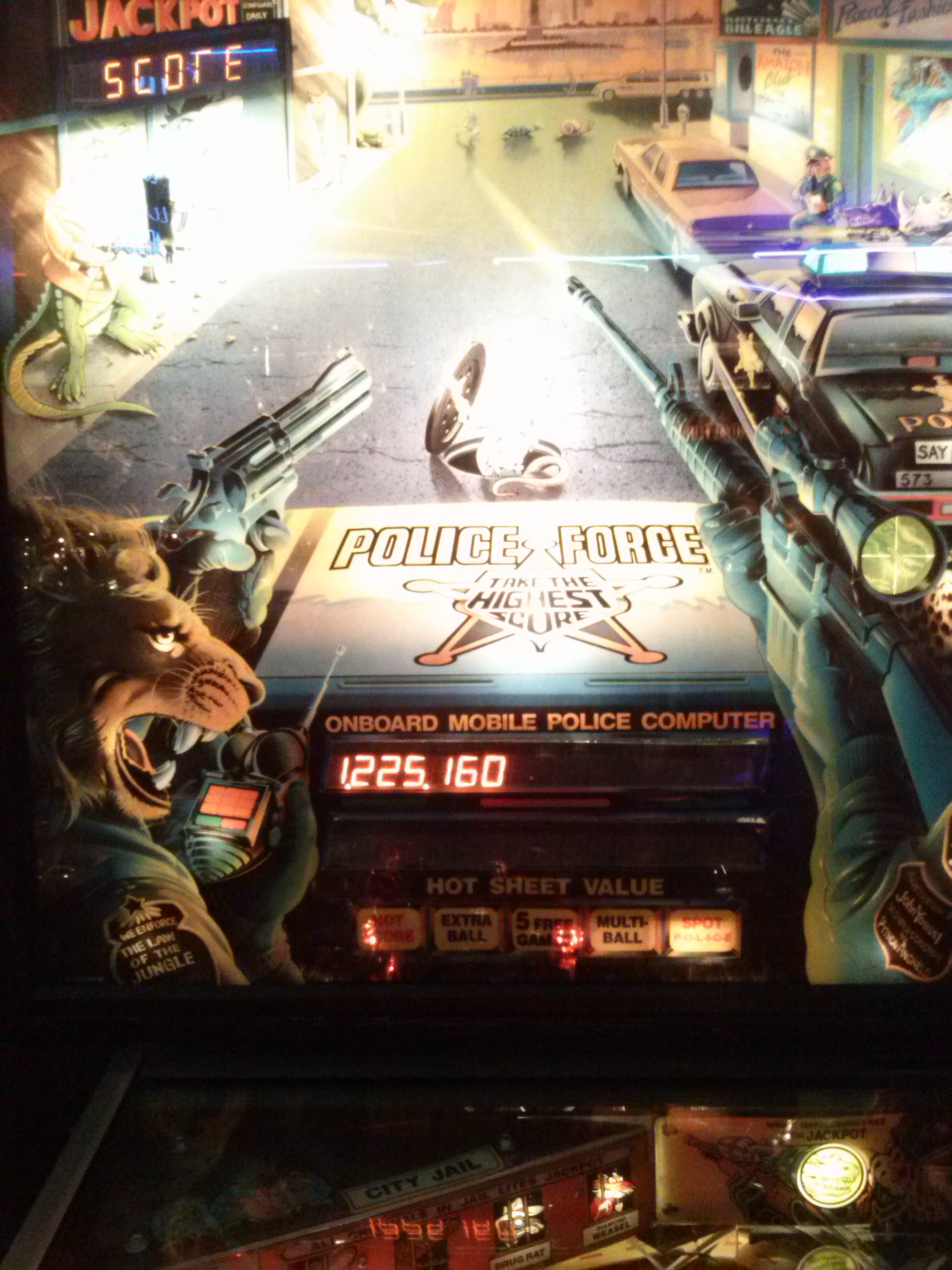nester: Police Force (Pinball: 3 Balls) 1,225,160 points on 2014-05-20 14:48:22