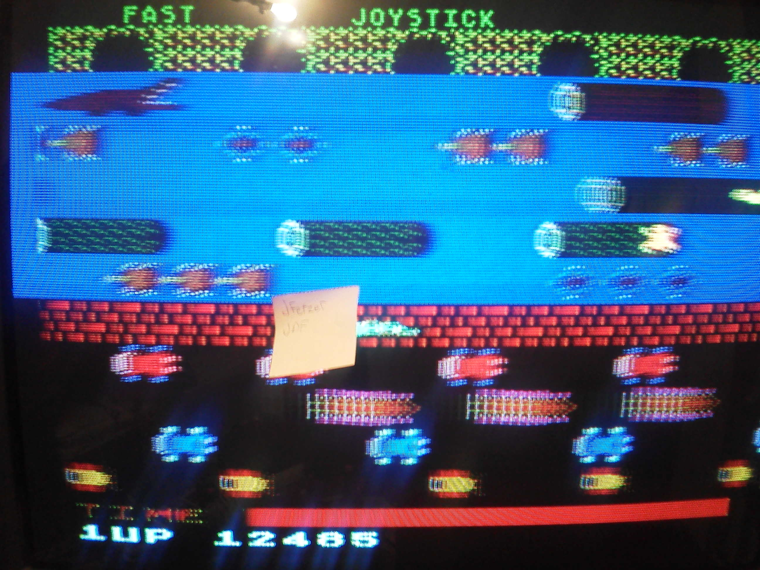 Frogger 12,485 points