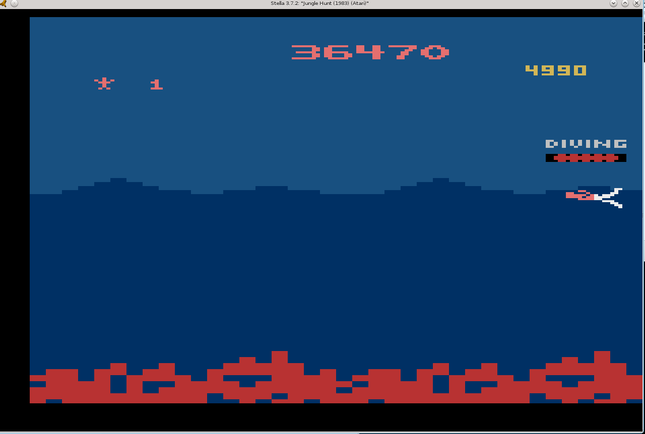 Liduario: Jungle Hunt (Atari 2600 Emulated) 36,470 points on 2014-05-20 20:27:42