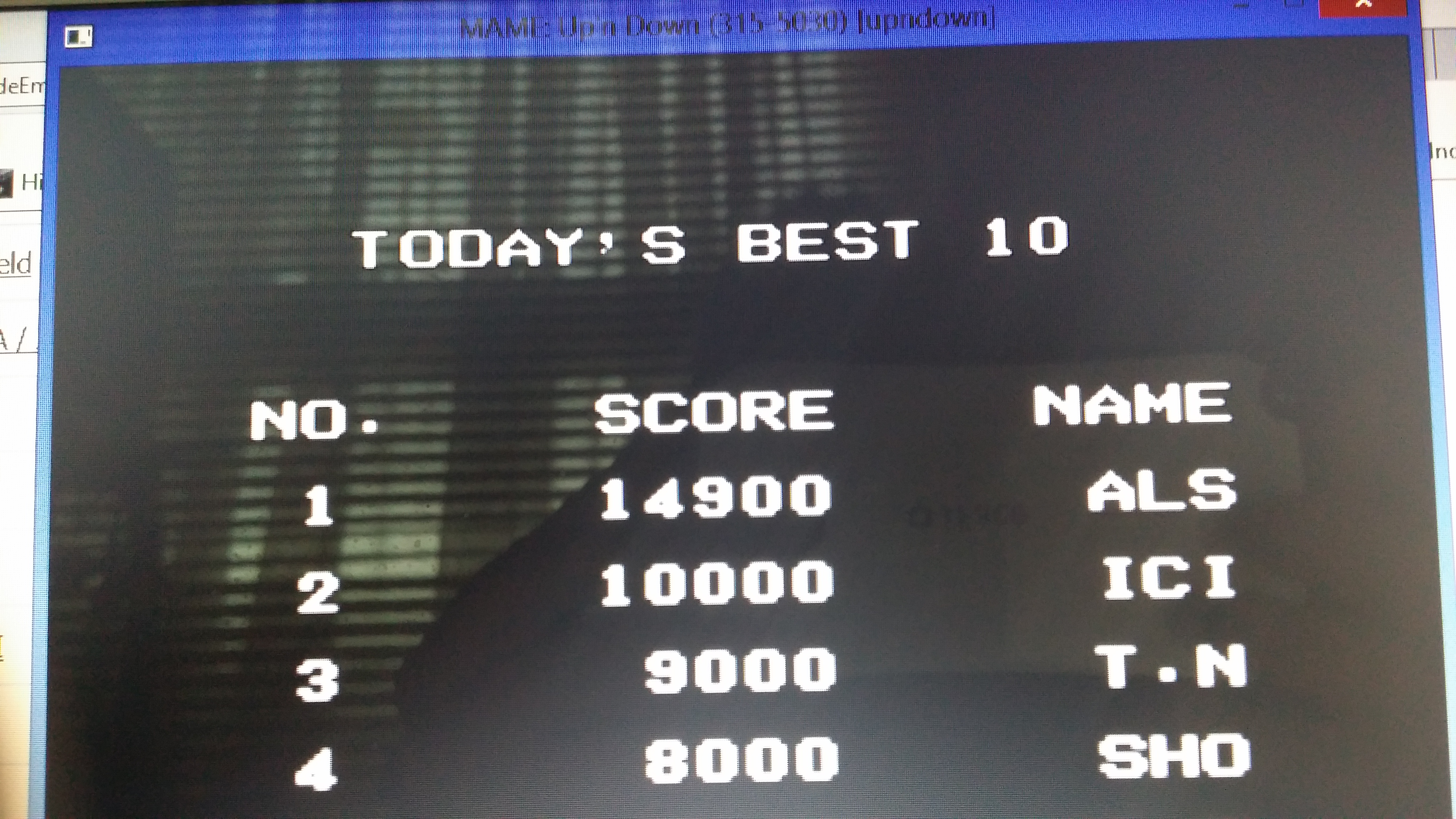muscleandfitness: Up N Down (Arcade Emulated / M.A.M.E.) 14,900 points on 2014-05-21 01:50:27