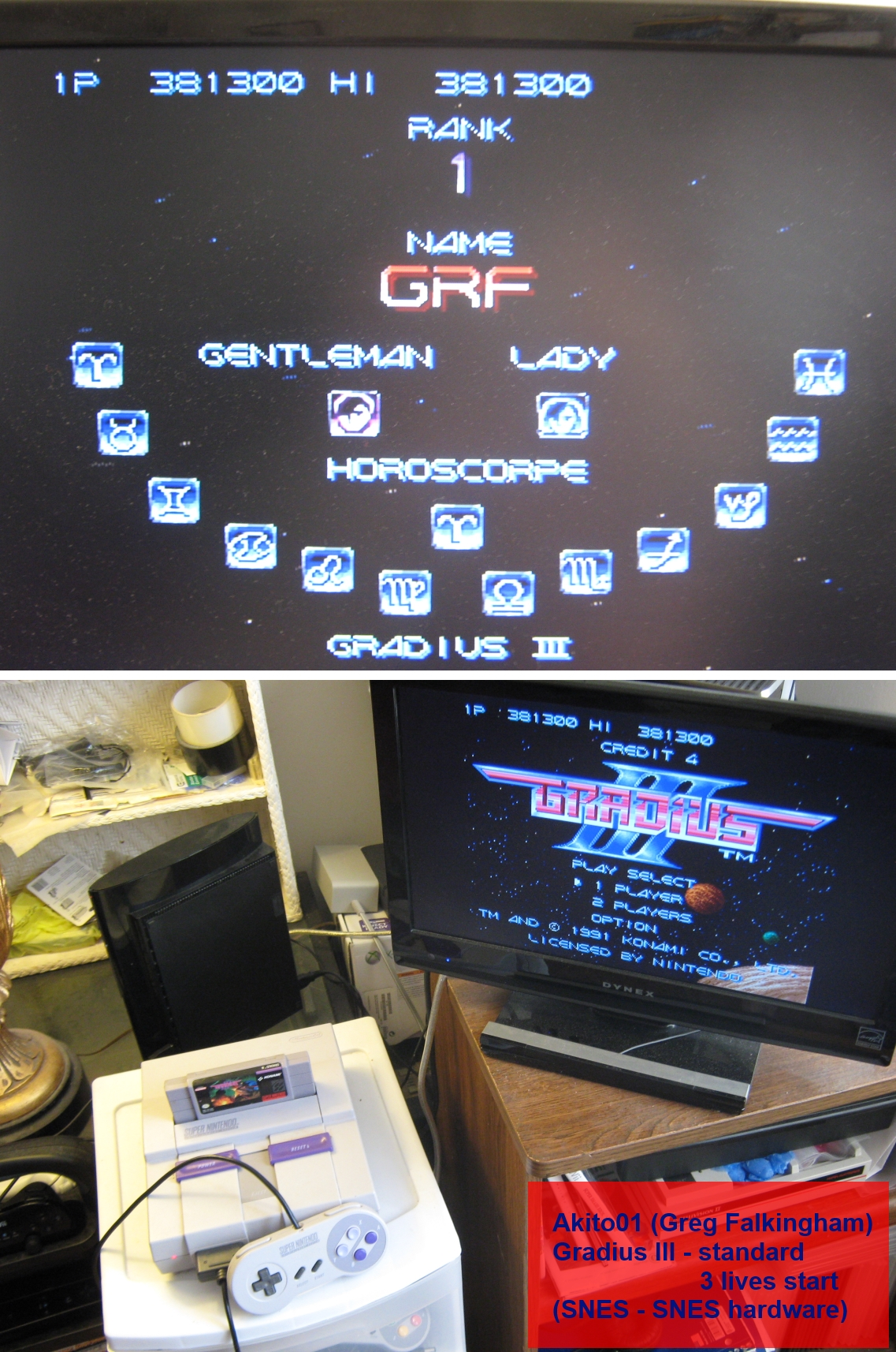 Gradius III 381,300 points